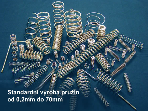 Standardní výroba pružin od 0,2 mm do 70 mm